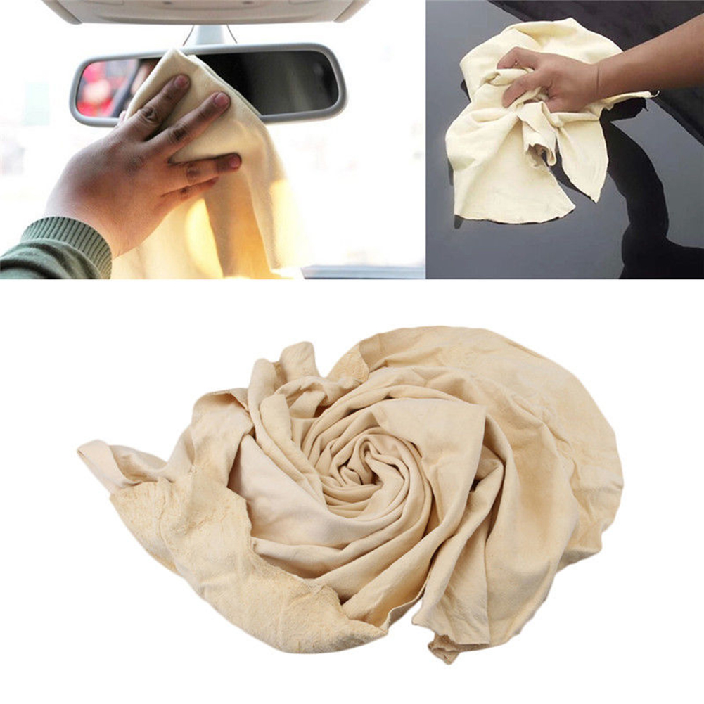 Car Cleaning Cloth Washing Natural Chamois Leather Suede Absorbent Drying Towel