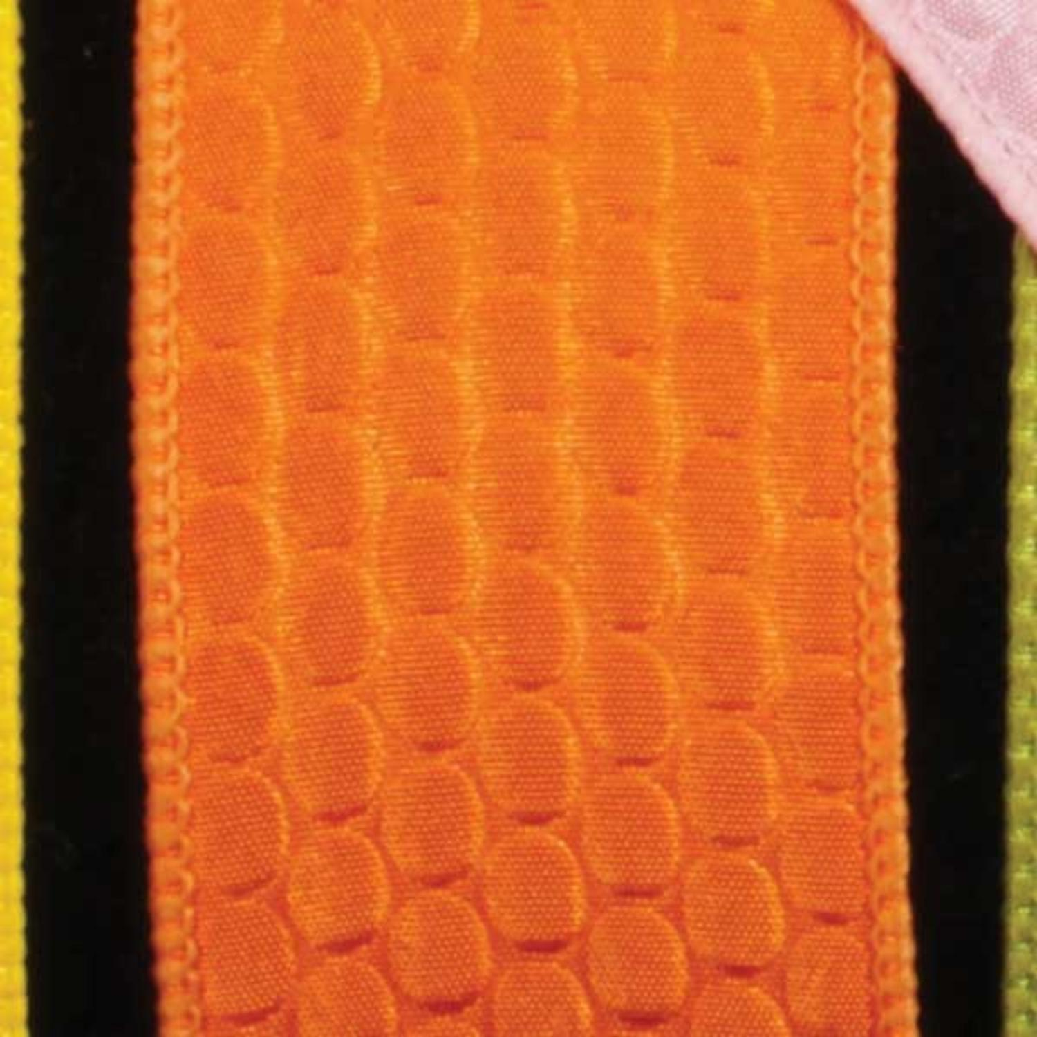 "Leapin' Lizard Scale Orange Wired Craft Ribbon 1.5"" x 40 Yards"