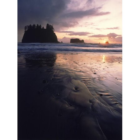 Beach at Sunset, La Push, WA Print Wall Art By Jim (Homes For Sale In City Beach Wa)