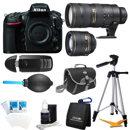 nikon d810 36 3mp 1080p hd dslr camera body with 85mm and. Black Bedroom Furniture Sets. Home Design Ideas