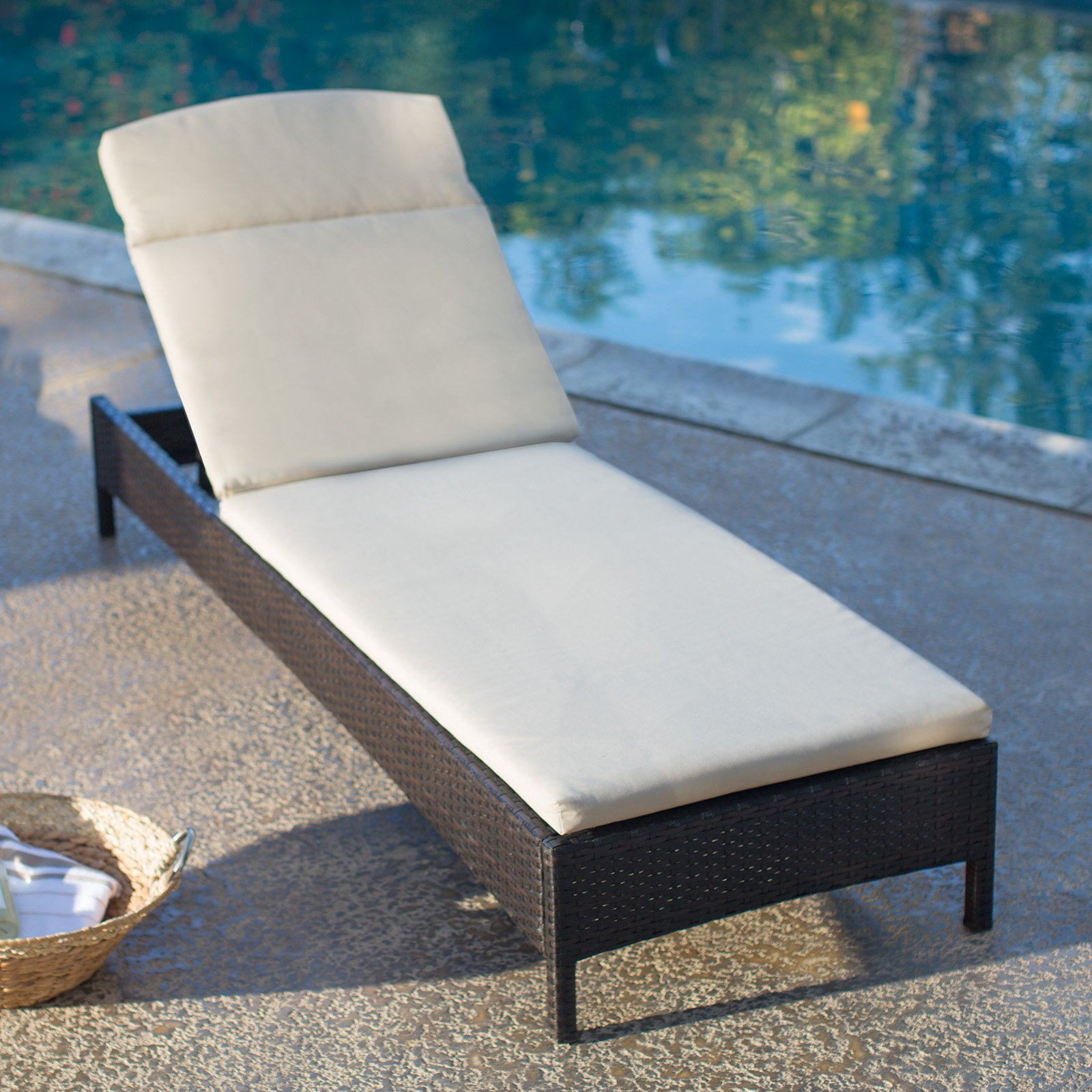 Coral Coast Berea All Weather Wicker Chaise Lounge