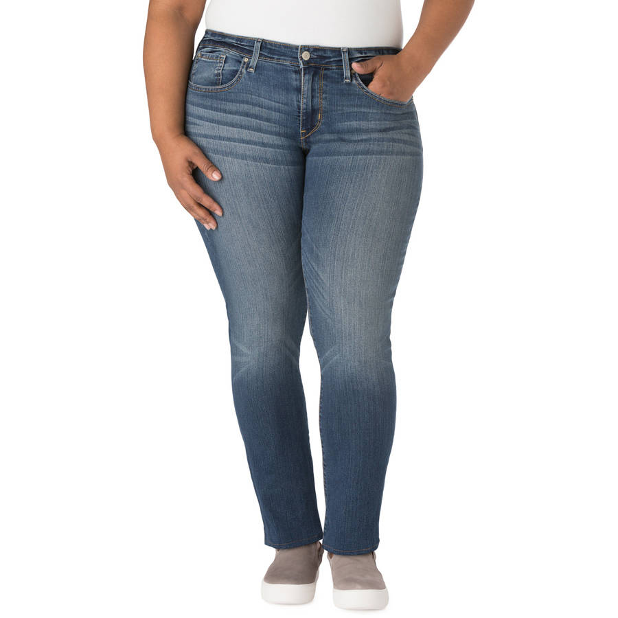 Signature by Levi Strauss & Co. Women's Plus Modern Slim Jeans