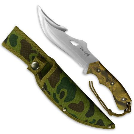 Tactical Boot Knife - Yes4All Hunting Survival Fixed Blade Knife / Tactical Knife with Sheath – Full Tang Camping Knife Set – Hunting Dagger Knife / Tactical Dagger – H103