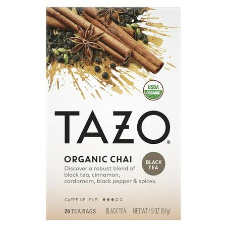 Tazo Organic Chai Black Tea, Tea Bags, 20 Ct
