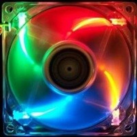 Evercool 120Mm X 25Mm 4 Color Led Crystal Fan Blue  Red  Orange  Green  3  4 Pin