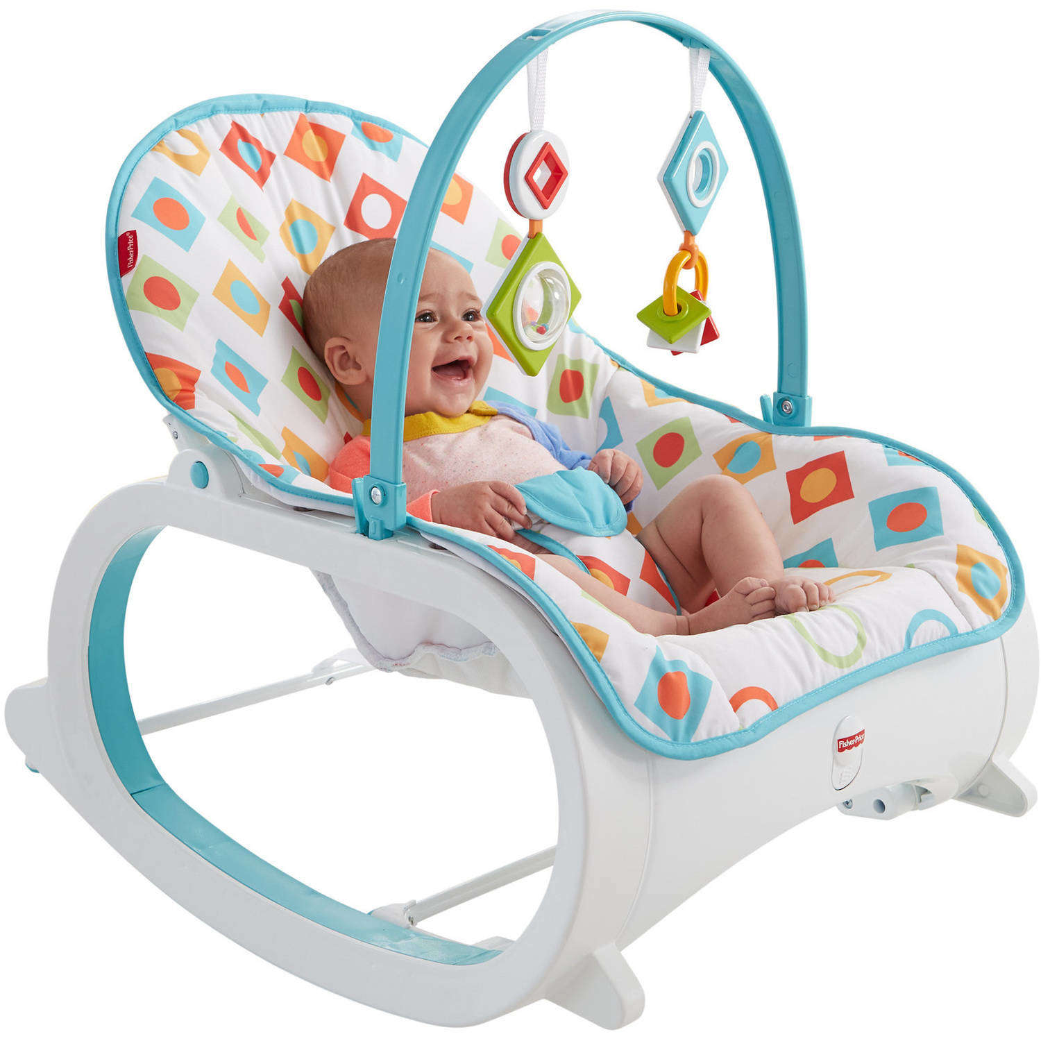 Fisher Price Infant-to-Toddler Rocker, Geo Diamonds by Fisher-Price