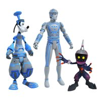 Diamond Select Toys Kingdom Hearts Select Series 3 Sp Goofy, Tron & Soldier Action Figures