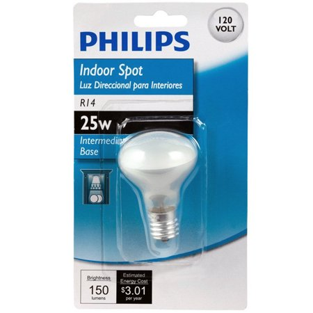 Philips 415372 25W R14 Intermediate Base Indoor Spot Light Bulb ()