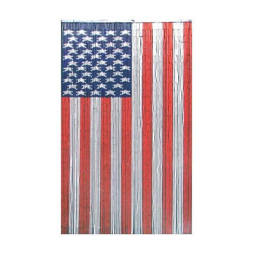Bamboo 54 American Flag Graphic Print & Text Semi-Sheer S...