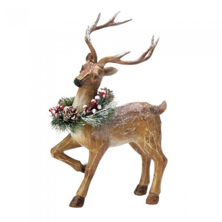 Home Christmas Decorations Sparkling Snowy Reindeer Merry Christmas - Reindeer Decoration