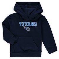 Toddler Navy Tennessee Titans Team Fleece Pullover Hoodie