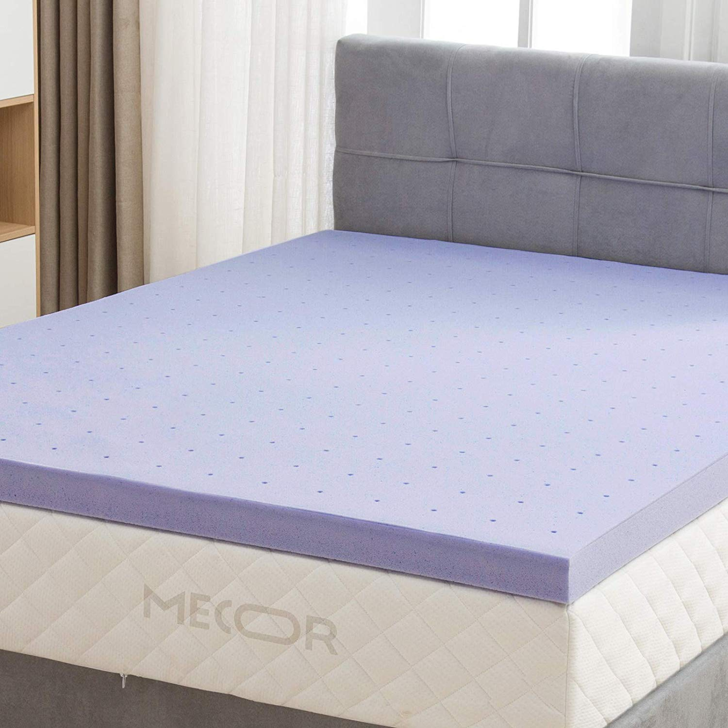 "Mecor 4 Inch 4"" Queen Size Gel Infused Memory Foam Mattress Topper"