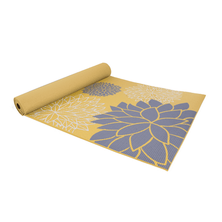 CAP 5mm Yoga Mat with Carry Strap, Dahlia (Omega Yoga Mat)