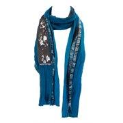 Religion Women's Wool Blend Fringe Scarf One Size Blue Multi