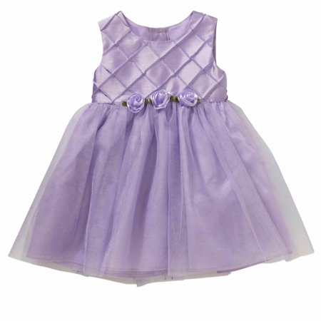 Toddler Girls Purple Satin & Tulle Easter & Party Dress