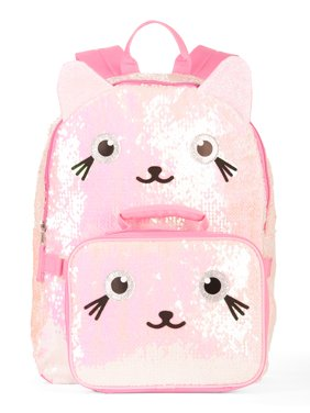 9763d06c2230 Product Image Girls  Kitty 2-Way Sequin Backpack With Lunch Bag