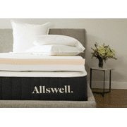 """Allswell 4"""" Memory Foam Mattress Topper Infused with Copper Gel, Queen"""