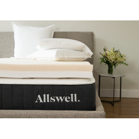 "Allswell 4"" Memory Foam Mattress Topper Infused with Copper Gel, Queen"