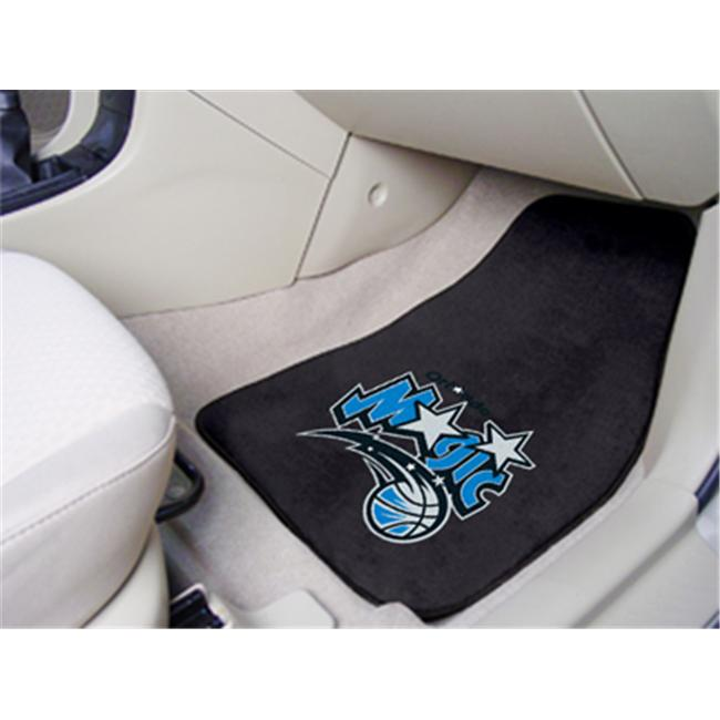 FANMATS 9365 National Basketball Association Orlando Magic 2-piece Carpeted Cat Mats 18 in. x 27 in.