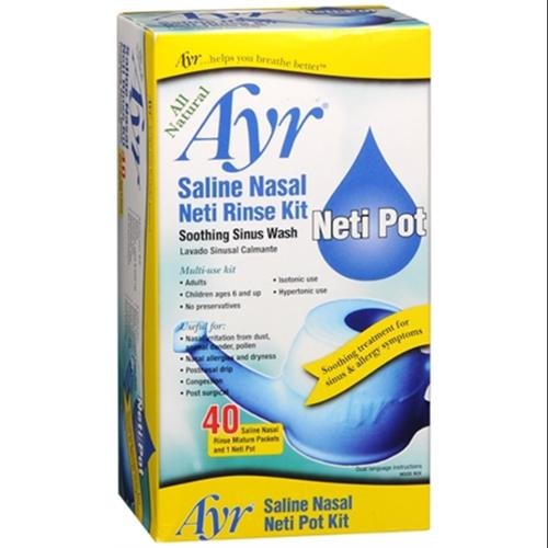Ayr Saline Nasal Neti Pot Kit 1 Each (Pack of 4)