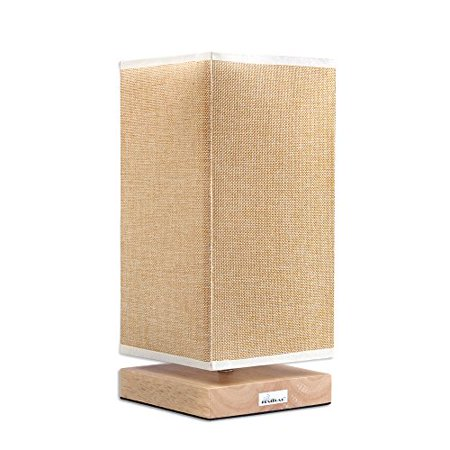 HAITRAL Japanese Style Table Lamp Reading Lamp for Bed Room, Night Light(HT-B007) Beige Mission Desk Lamp