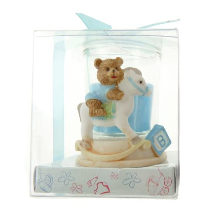 Votive Candle Favors, 2-Inch, Rocking Horse Bear, Light - Candles And Favors