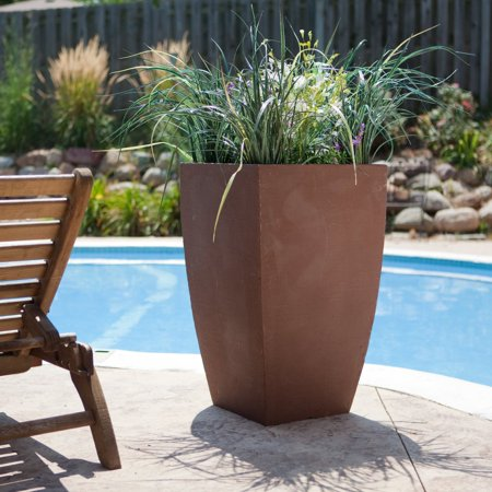 Craftware Square Resin Modern Pot Planter ()