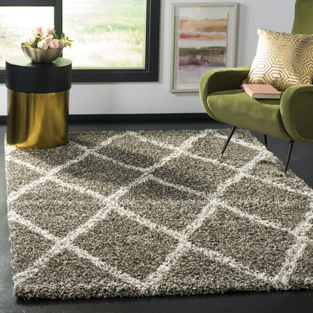 Safavieh Hudson Adella Geometric Diamonds Shag Area Rug or Runner