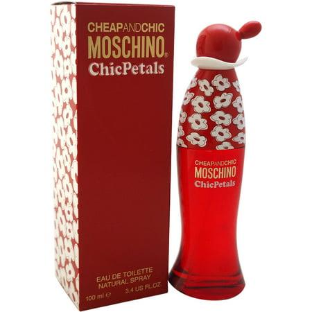 Moschino for Women Cheap and Chic Chic Petals Eau de Toilette Spray, 3.4 fl