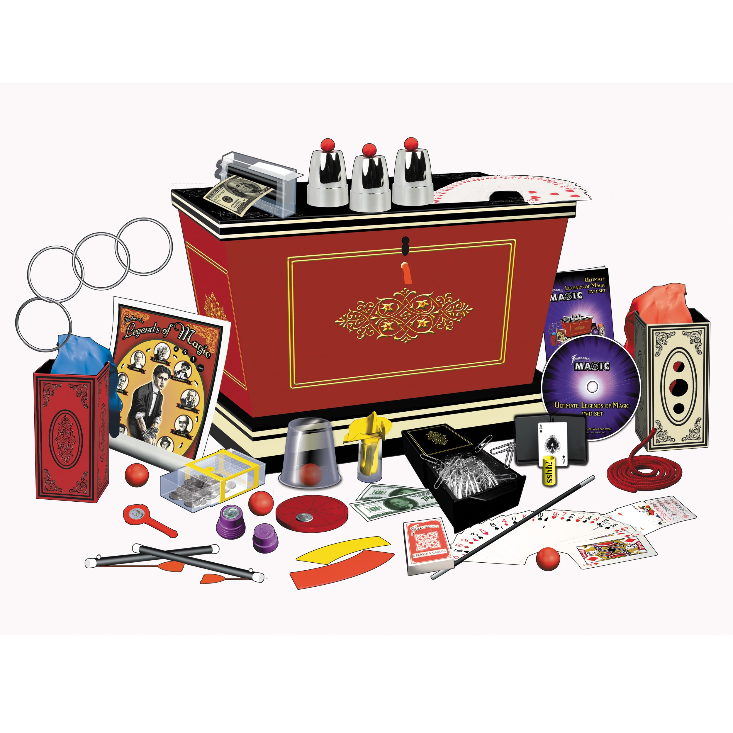 Fantasma Magic - 300 Illusions Legends of Magic Show with DVD