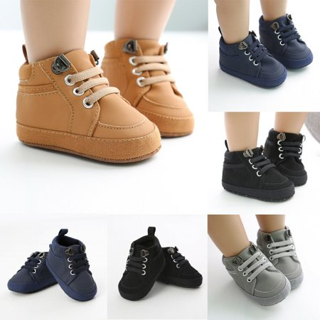 US Newborn Baby Boy Soft Sole Crib Shoes Toddler Kids Anti-slip Sneakers Shoes