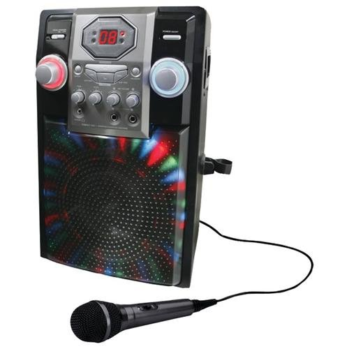 GPX J182B Karaoke Machine Black Perp Led Lights And Mic by GPX