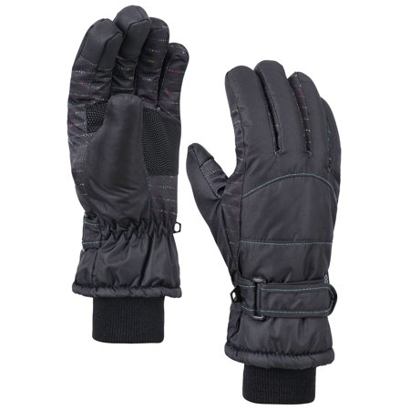 d652f5f45 ANDORRA Women's Night Galaxy Thinsulate Waterproof Touchscreen Snow Gloves,L,Black  - Walmart.com