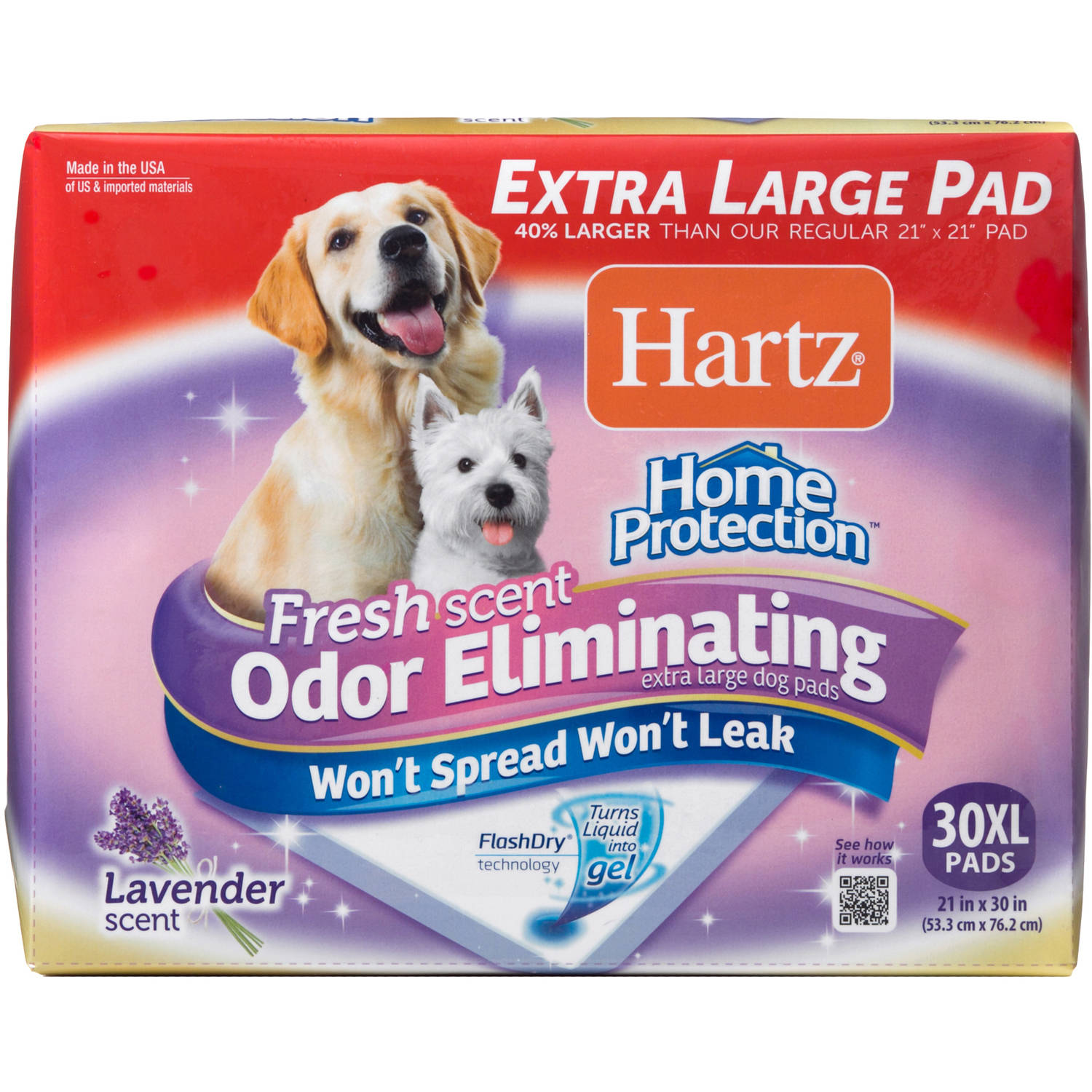 Hartz Home Pro X-Large Dog Pads, 30-Count