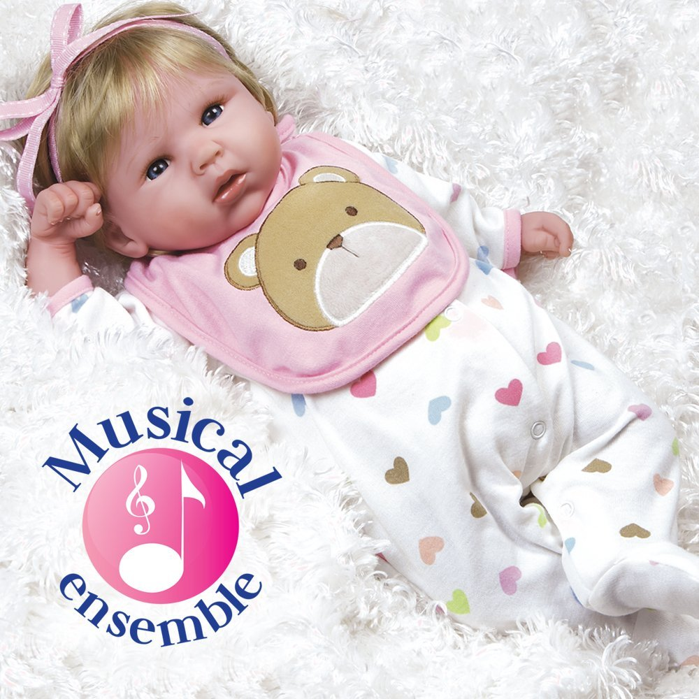cd7f341b0db5 Paradise Galleries Reborn Baby Doll That Looks Real Happy Teddy