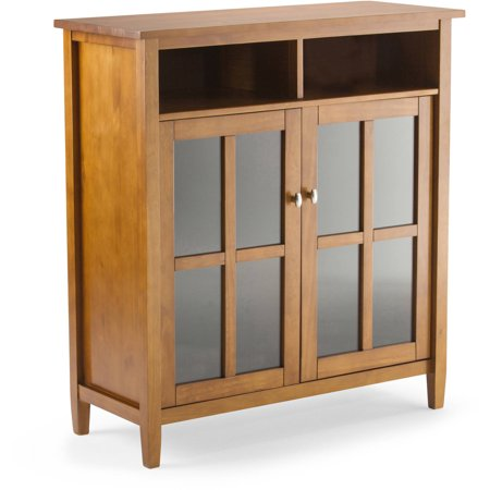 Brooklyn + Max Lexington Honey Brown Medium Storage Media Cabinet and Buffet for TVs up to 42″