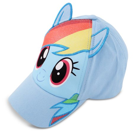 Hasbro My Little Pony Rainbow Dash Cotton Baseball Cap, Little Girls, Age 4-7 - My Little Pony Hat