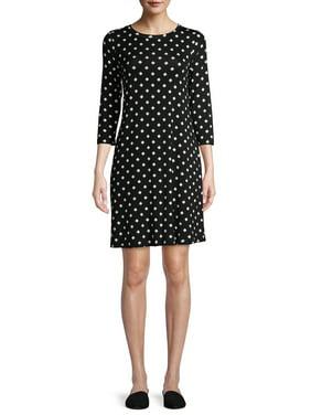 Time and Tru Womens 3/4 Sleeve Knit Dress