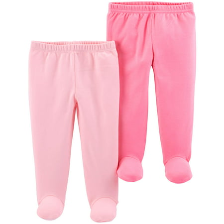 Footed Pants, 2-pack (Baby - Pretty Baby Girl