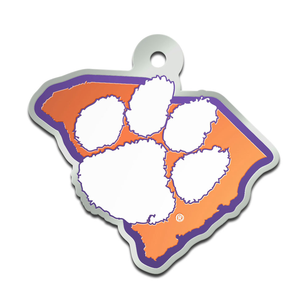 One Size Multicolor Game Day Outfitters NCAA Clemson Tigers Metal Circle Wall Art