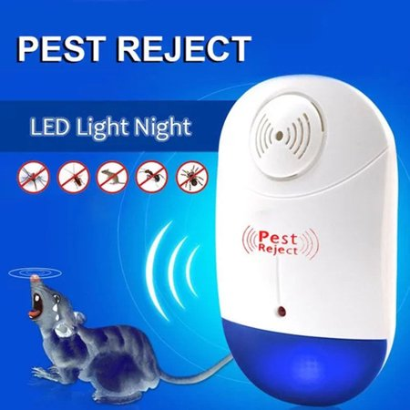 [2018 NEW UPGRADED] LIGHTSMAX - Ultrasonic Pest Repeller - Electronic Plug -In Pest Control Ultrasonic - Best Repellent for Cockroach Rodents Flies Roaches Ants Mice Spiders Fleas (Best Stuff To Get Rid Of Fleas In The House)