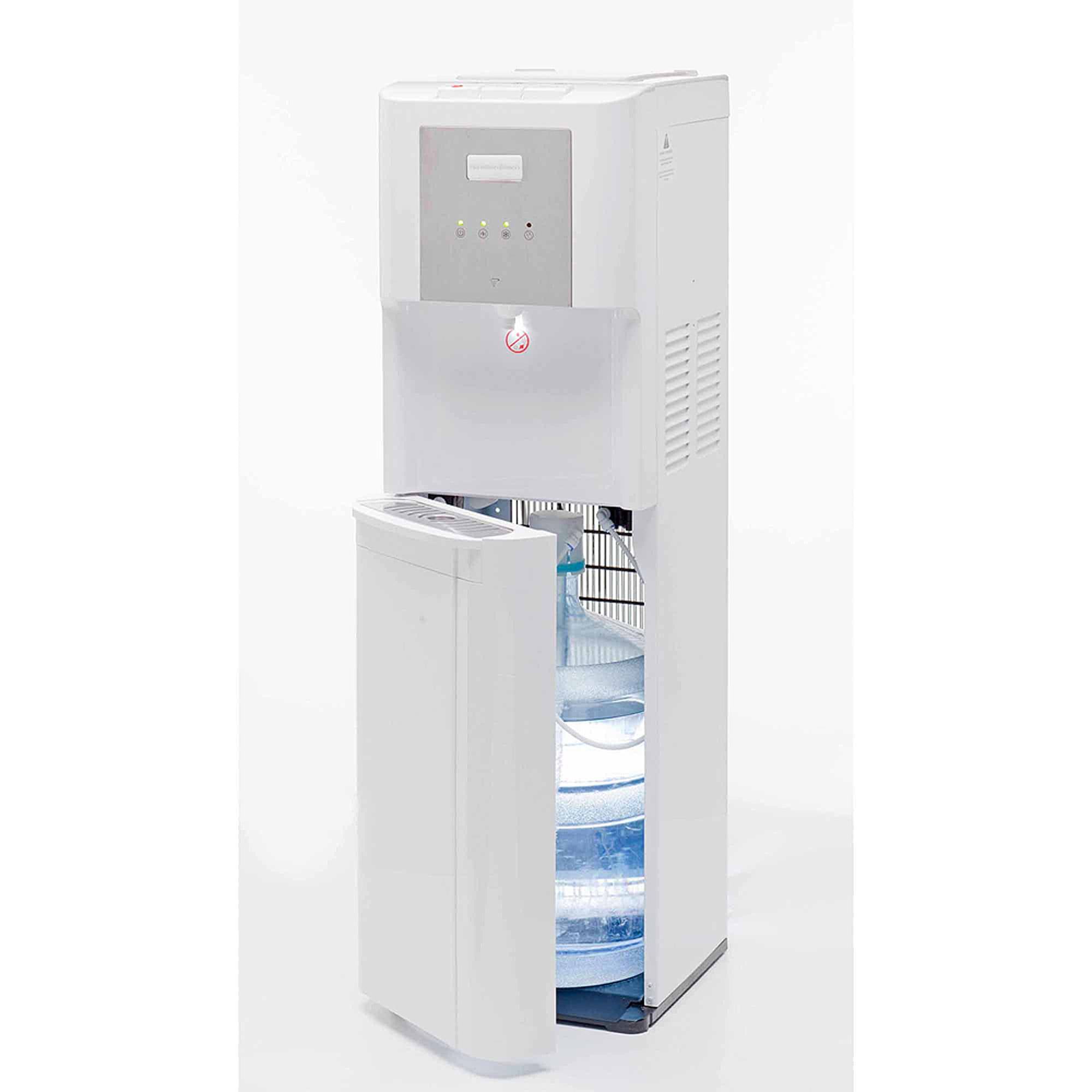 hamilton beach bl14w bottom loading water dispenser with hot cold and room black walmartcom