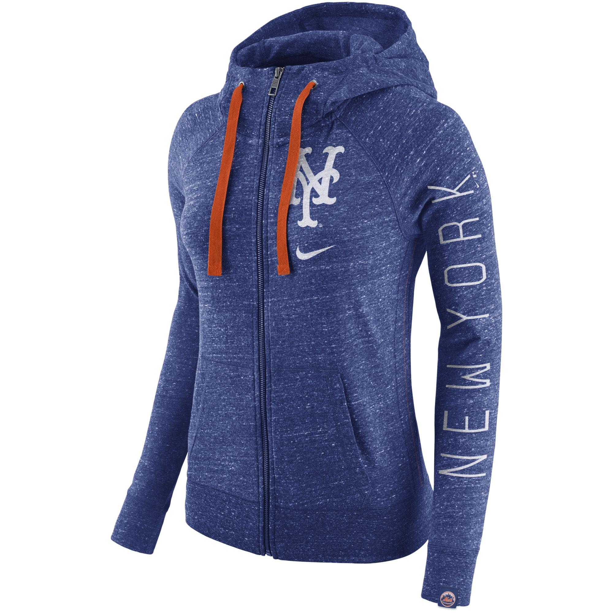 New York Mets Nike Women's Vintage Full Zip Hoodie Heather
