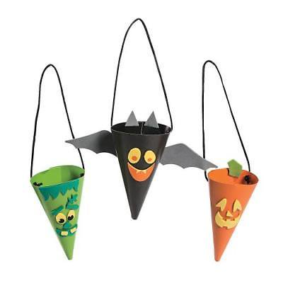 Halloween Treat Cone Craft Kit 2PK - Easy Halloween Crafts And Treats