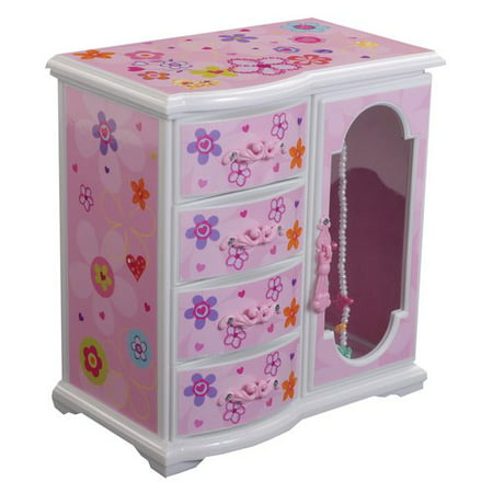 Mele Designs Kelly Girls' Upright Musical Ballerina Jewelry Box - Little Girls Jewelry Boxes