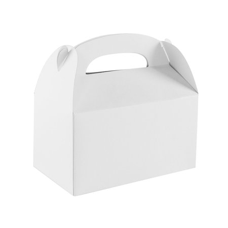 Blank White Treat Gift Paper Cardboard Boxes for Arts & Crafts Candy Goodie Bags, Birthday Party Favors (12 Pack) by Super Z Outlet (Football Treat Bags)
