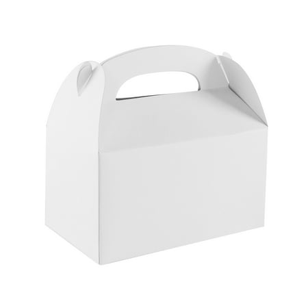 Santas Goodie Box - Blank White Treat Gift Paper Cardboard Boxes for Arts & Crafts Candy Goodie Bags, Birthday Party Favors (12 Pack) by Super Z Outlet