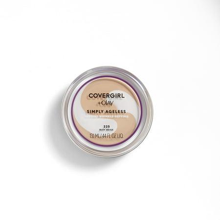 COVERGIRL + OLAY Simply Ageless Wrinkle Defying Foundation, 225 Buff Beige - Oil Of Olay Moisturizing Foundation