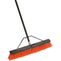 """Laitner Brush Company 24"""" Assembled Indoor & Outdoor Push Broom with 60"""" Metal Handle"""