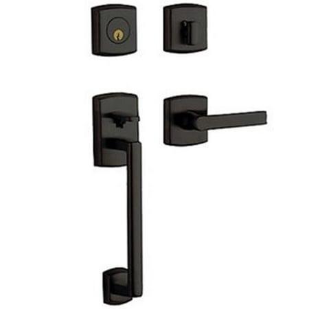 Baldwin Hardware Soho Single - Baldwin 85386102RENT Estate Soho Sectional Single Cylinder Handleset for Right Handed Door, Oil Rubbed Bronze